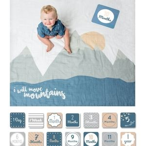 """Babys First Year """"I Will Move Mountains"""" Blanket"""